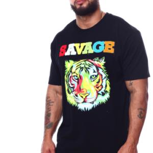 alt=colourful-tiger-savage-t-shirt-black